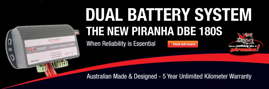 Piranha Dual Battery System - DBE 180S